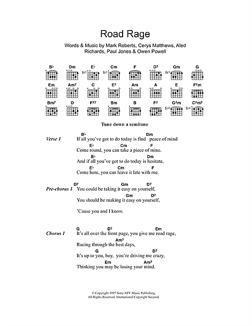 Road Rage Sheet Music