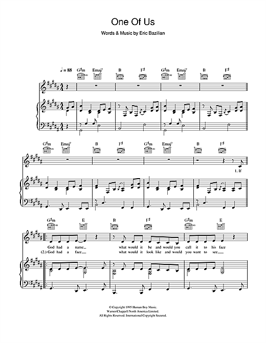 One Of Us Sheet Music