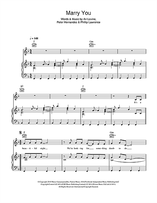Marry You Sheet Music
