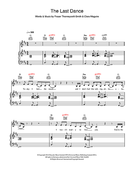 The Last Dance Sheet Music