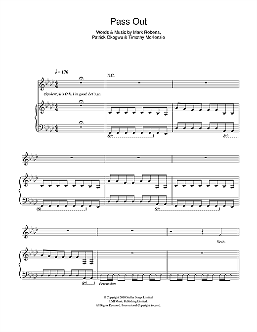 Pass Out Sheet Music