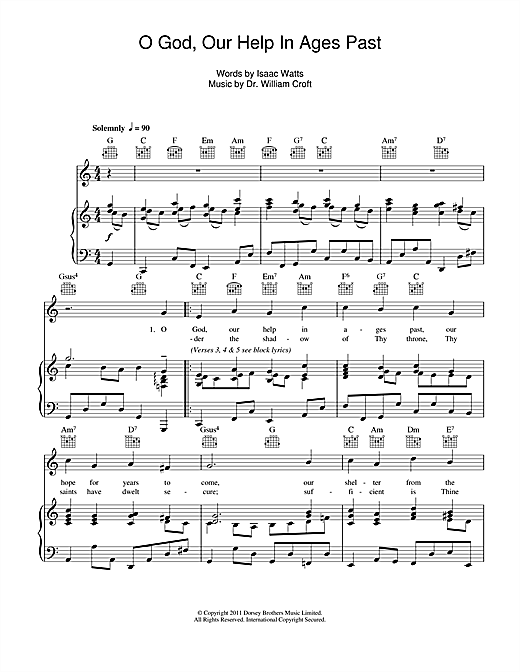O God Our Help In Ages Past Sheet Music