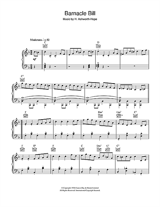 Barnacle Bill (Theme from Blue Peter) Sheet Music