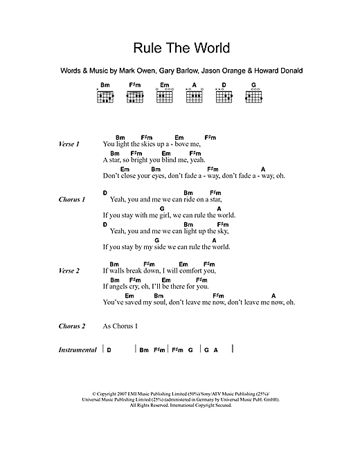 Rule The World (from Stardust) Sheet Music