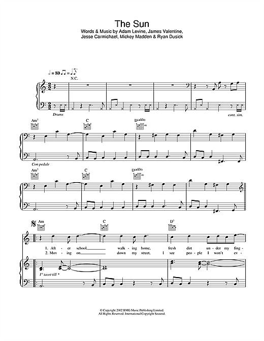 The Sun Sheet Music
