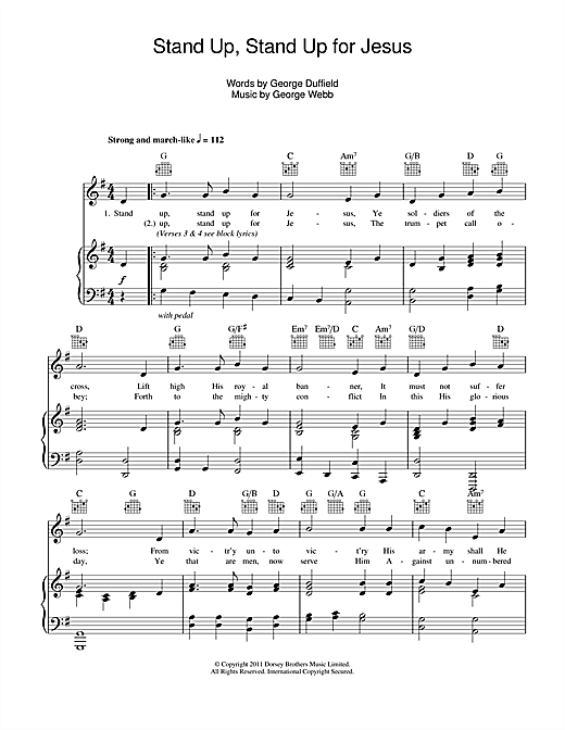 Stand Up, Stand Up For Jesus Sheet Music