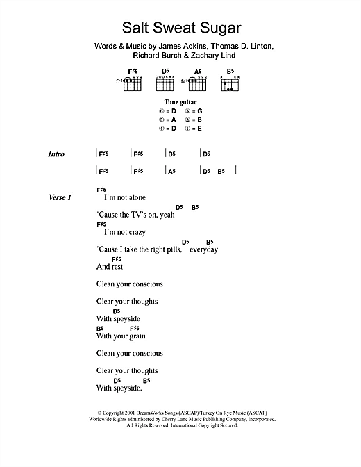 Salt Sweat Sugar Sheet Music