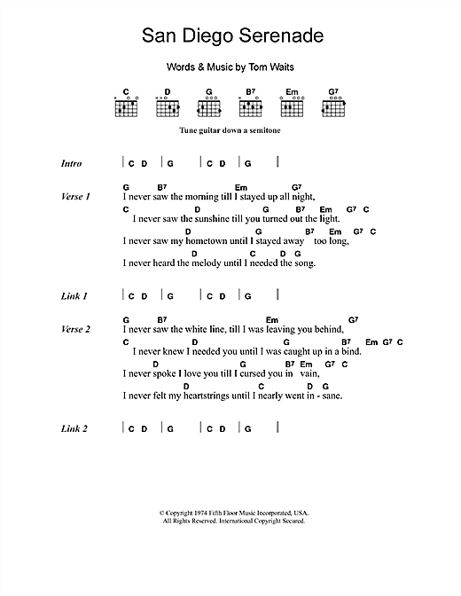 San Diego Serenade Sheet Music