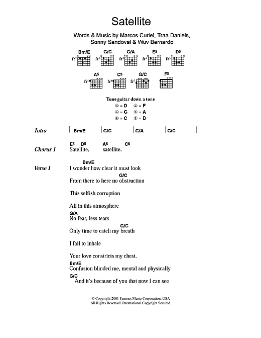 Satellite (Guitar Chords/Lyrics)