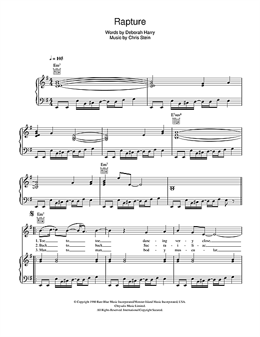 Rapture Sheet Music