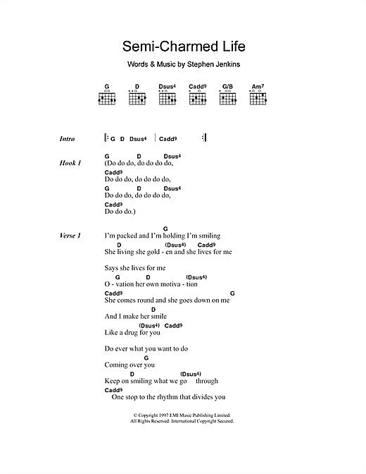 Semi-Charmed Life (Guitar Chords/Lyrics)