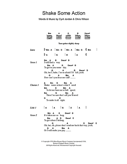 Shake Some Action Sheet Music