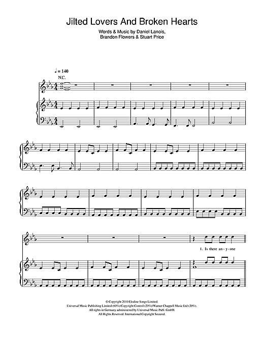 Jilted Lovers And Broken Hearts Sheet Music