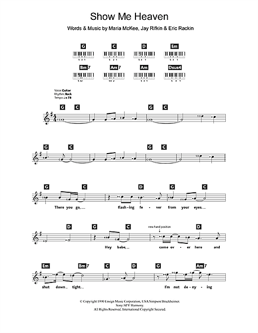 Show Me Heaven Sheet Music