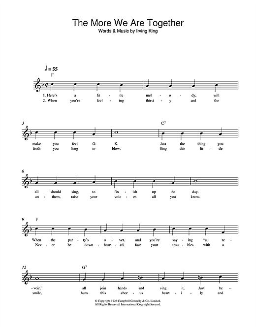 The More We Are Together Sheet Music