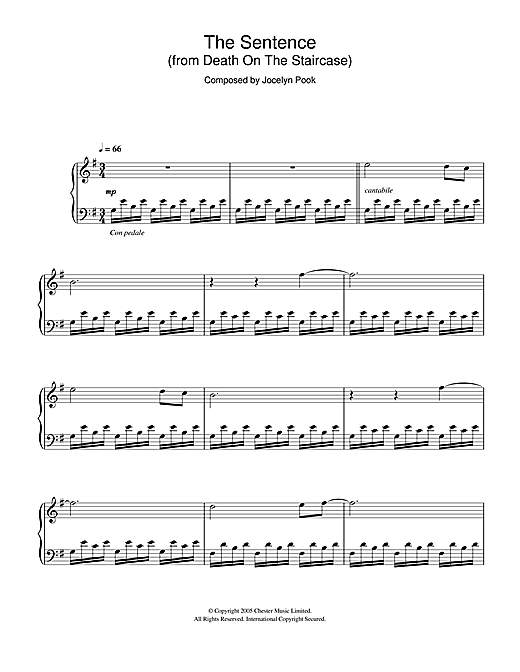 The Sentence (from Death On The Staircase) Sheet Music