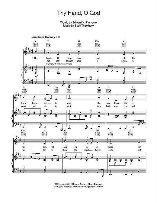 Thy Hand, O God (Piano, Vocal & Guitar (Right-Hand Melody))