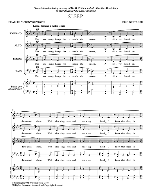 Sleep Sheet Music