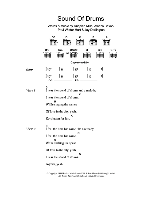Sound Of Drums (Guitar Chords/Lyrics)