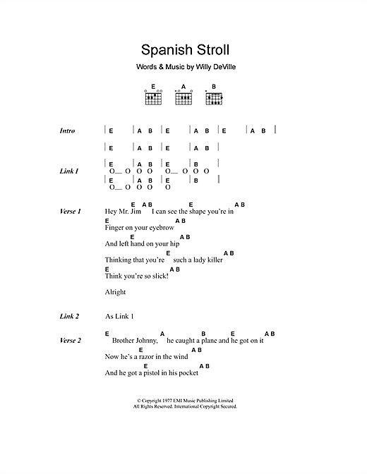 Spanish Stroll Sheet Music