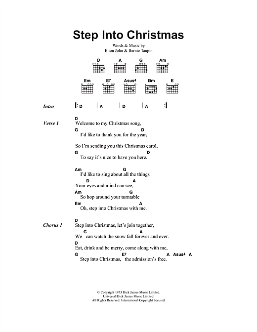 Step Into Christmas Sheet Music