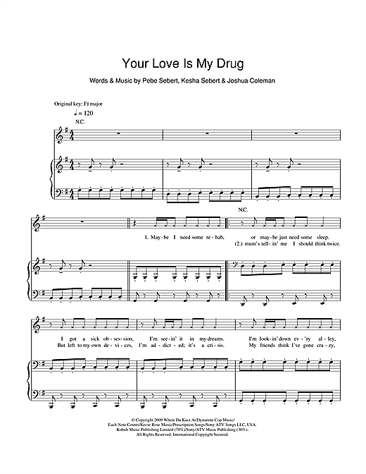 Your Love Is My Drug Sheet Music
