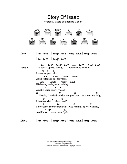 Story Of Isaac Sheet Music