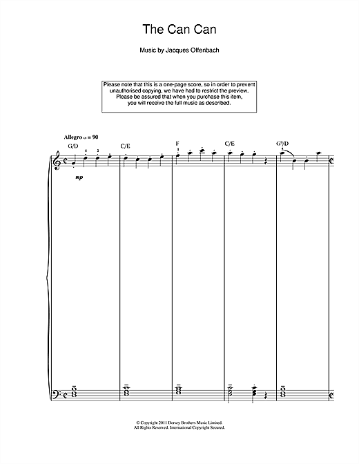 The Can Can Sheet Music