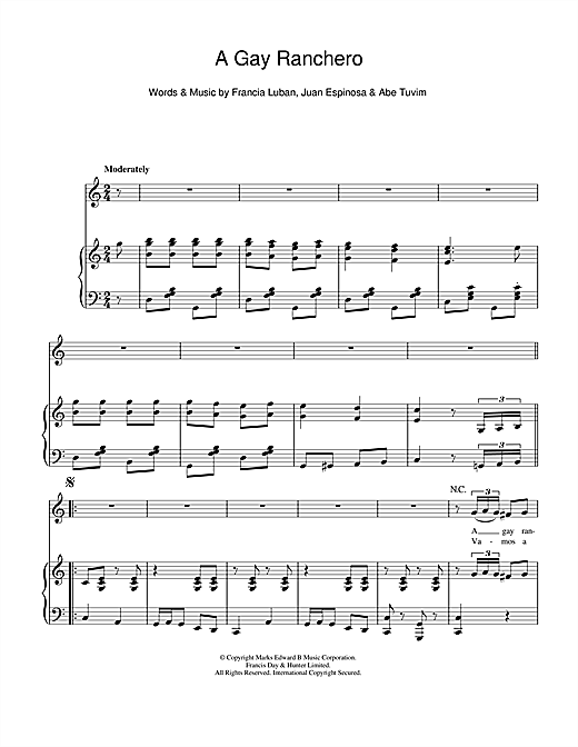 A Gay Ranchero Sheet Music