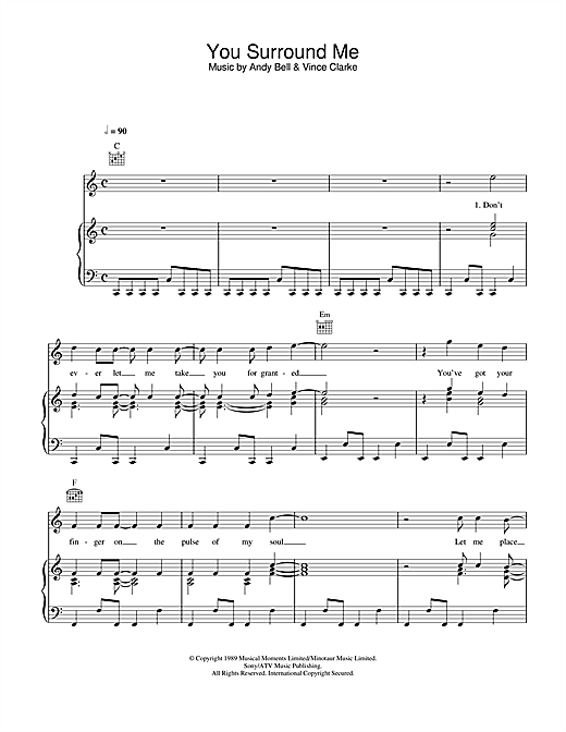 You Surround Me Sheet Music