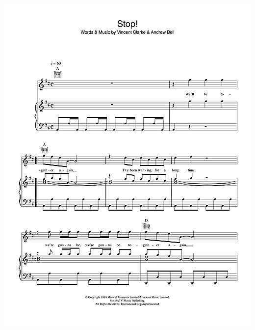 Stop (Piano, Vocal & Guitar (Right-Hand Melody))
