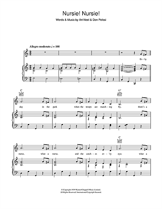 Nursie Nursie Sheet Music