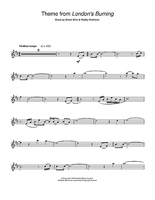 Theme from London's Burning Sheet Music