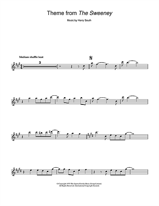 Theme from The Sweeney Sheet Music