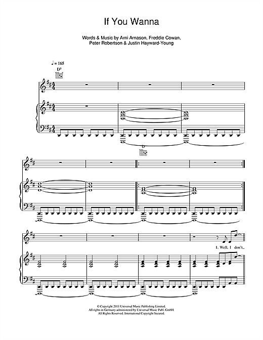 If You Wanna Sheet Music