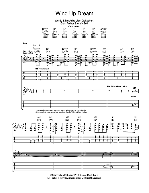 Wind Up Dream Sheet Music
