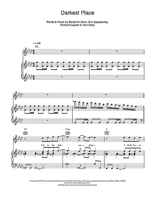 Darkest Place Sheet Music