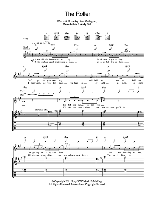 The Roller Sheet Music
