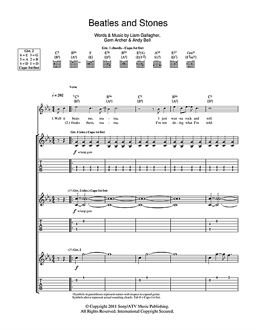 Beatles And Stones Sheet Music