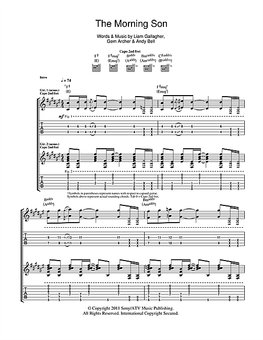 The Morning Son Sheet Music