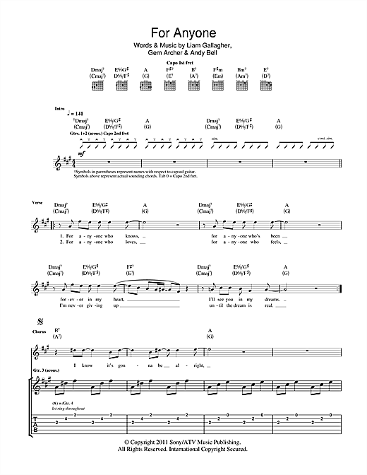 For Anyone Sheet Music