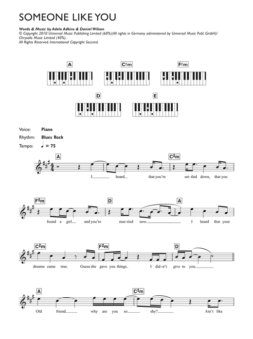 Piano piano tabs to someone like you : Piano : piano tabs to someone like you Piano Tabs To Someone and ...