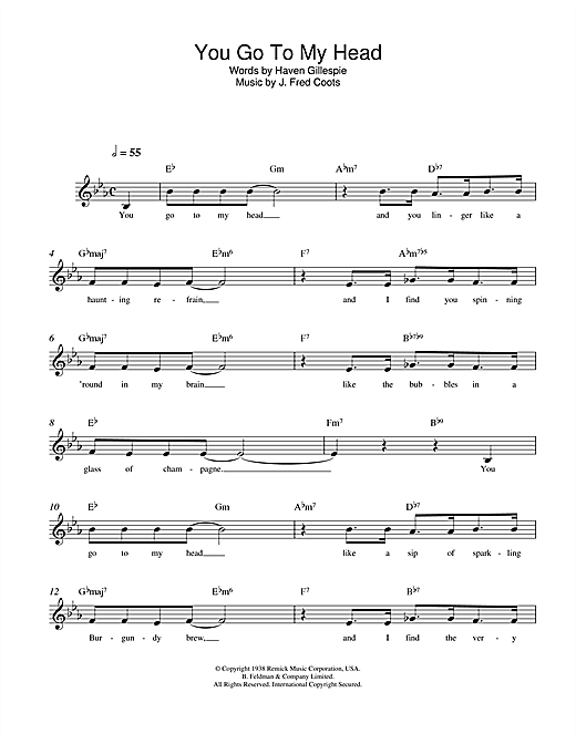 You Go To My Head Sheet Music