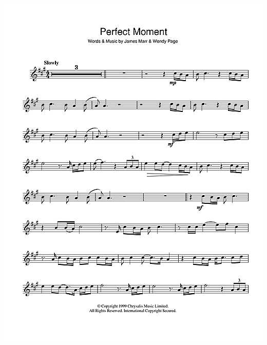 Perfect Moment Sheet Music