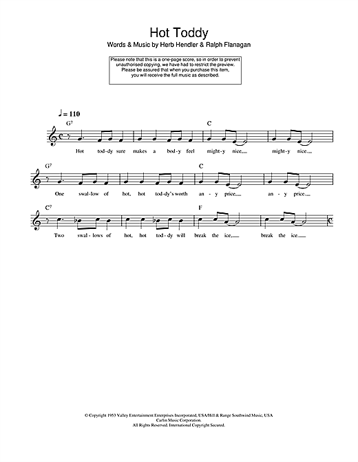 Hot Toddy Sheet Music