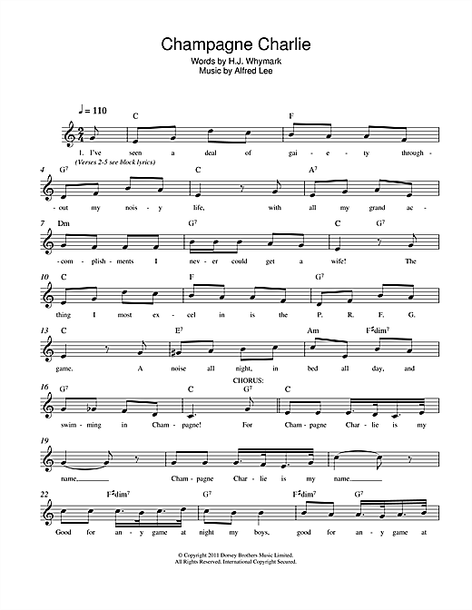Champagne Charlie Sheet Music