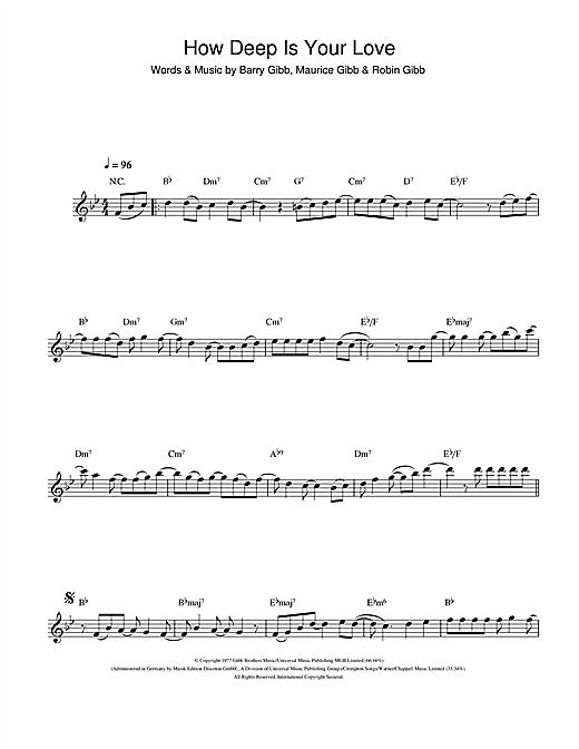 How Deep Is Your Love Sheet Music