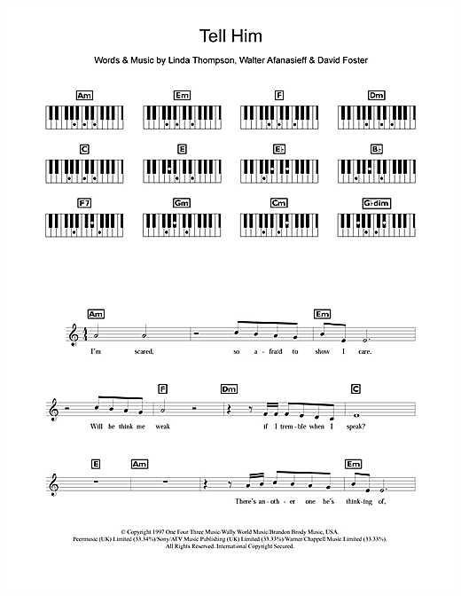 Tell Him Sheet Music