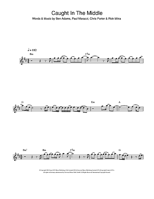 Caught In The Middle Sheet Music