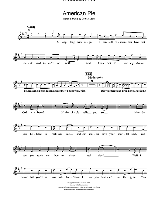 Lyrics for American Pie by Don McLean  Songfacts